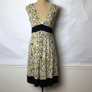 DVF stretch Vee front & back sleeveless  dress